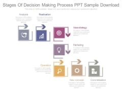 Stages Of Decision Making Process Ppt Sample Download