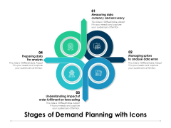 Stages Of Demand Planning With Icons Ppt PowerPoint Presentation Pictures Professional PDF