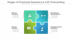 Stages Of Employee Experience With Onboarding Ppt Layouts Graphic Images PDF