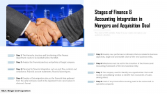 Stages Of Finance And Accounting Integration In Mergers And Acquisition Deal Ppt PowerPoint Presentation Layouts Influencers PDF