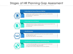 Stages Of HR Planning Gap Assessment Ppt PowerPoint Presentation Gallery Objects PDF