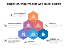 Stages Of Hiring Process With Talent Search Ppt PowerPoint Presentation File Graphics PDF