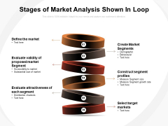 Stages Of Market Analysis Shown In Loop Ppt PowerPoint Presentation Portfolio Graphics Template PDF