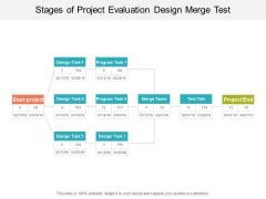 Stages Of Project Evaluation Design Merge Test Ppt Powerpoint Presentation Outline Example Introduction