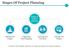 Stages Of Project Planning Ppt PowerPoint Presentation File Topics
