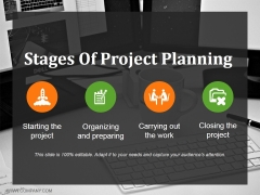 Stages Of Project Planning Ppt PowerPoint Presentation Pictures Visual Aids