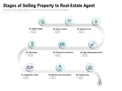 Stages Of Selling Property To Real Estate Agent Ppt PowerPoint Presentation File Introduction PDF