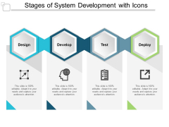 Stages Of System Development With Icons Ppt PowerPoint Presentation Summary Background Designs