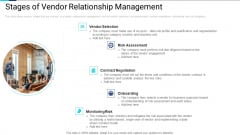 Stages Of Vendor Relationship Management Professional PDF