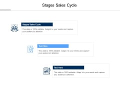 Stages Sales Cycle Ppt PowerPoint Presentation Slides Professional Cpb