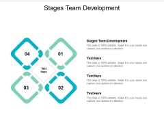 Stages Team Development Ppt PowerPoint Presentation Styles Infographics Cpb