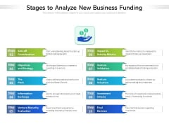 Stages To Analyze New Business Funding Ppt PowerPoint Presentation Styles Show PDF