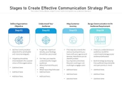 Stages To Create Effective Communication Strategy Plan Ppt PowerPoint Presentation File Introduction PDF