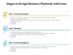 Stages To Design Business Playbook With Icons Ppt PowerPoint Presentation File Design Inspiration PDF