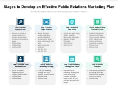 Stages To Develop An Effective Public Relations Marketing Plan Ppt PowerPoint Presentation Inspiration Ideas PDF