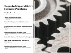 Stages To Map And Solve Business Problems Ppt PowerPoint Presentation Model Slide Download PDF