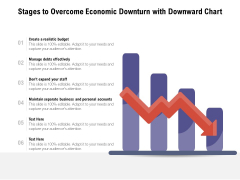 Stages To Overcome Economic Downturn With Downward Chart Ppt PowerPoint Presentation Portfolio Designs Download PDF