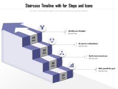 Staircase Timeline With For Steps And Icons Ppt PowerPoint Presentation File Infographics PDF