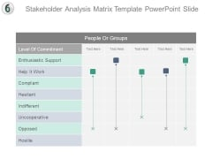 Stakeholder Analysis Matrix Template Powerpoint Slide