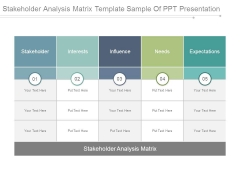 Stakeholder Analysis Matrix Template Sample Of Ppt Presentation
