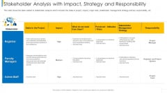 Stakeholder Analysis With Impact Strategy And Responsibility Diagrams PDF