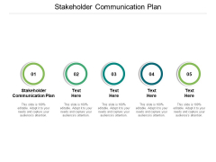 Stakeholder Communication Plan Ppt PowerPoint Presentation Ideas Graphics Design Cpb