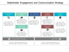 Stakeholder Engagement And Communication Strategy Ppt Powerpoint Presentation Portfolio Layout