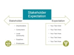 Stakeholder Expectation Ppt PowerPoint Presentation Example 2015