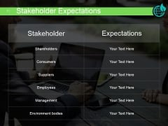 Stakeholder Expectations Ppt PowerPoint Presentation Slide Download