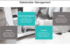 Stakeholder Management Ppt PowerPoint Presentation Infographics Slide Cpb