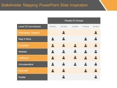 Stakeholder Mapping Powerpoint Slide Inspiration