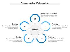 Stakeholder Orientation Ppt PowerPoint Presentation Inspiration Demonstration Cpb