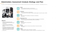 Stakeholders Assessment Analysis Strategy And Plan Ppt Layouts Show PDF