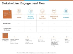 Stakeholders Engagement Plan Ppt PowerPoint Presentation Infographics Gridlines PDF