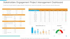 Stakeholders Engagement Project Management Dashboard Elements PDF