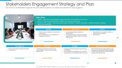 Stakeholders Engagement Strategy And Plan Infographics PDF