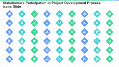 Stakeholders Participation In Project Development Process Icons Slide Ppt Icon Microsoft PDF
