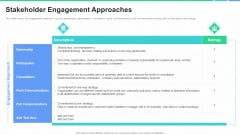 Stakeholders Participation Project Development Process Stakeholder Engagement Approaches Brochure PDF