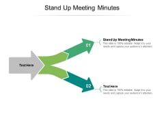 Stand Up Meeting Minutes Ppt PowerPoint Presentation Styles Design Templates Cpb