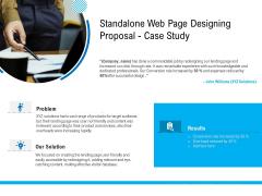 Standalone Web Page Designing Proposal Case Study Designs PDF