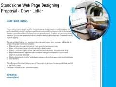 Standalone Web Page Designing Proposal Cover Letter Inspiration PDF