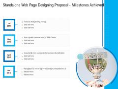 Standalone Web Page Designing Proposal Milestones Achieved Sample PDF