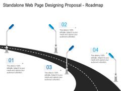 Standalone Web Page Designing Proposal Roadmap Ideas PDF