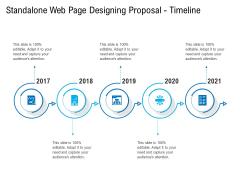 Standalone Web Page Designing Proposal Timeline Slides PDF
