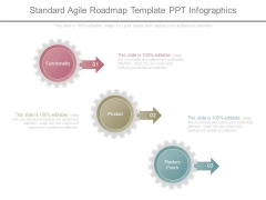Standard Agile Roadmap Template Ppt Infographics