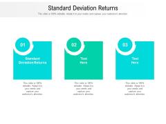 Standard Deviation Returns Ppt PowerPoint Presentation Ideas Inspiration Cpb Pdf