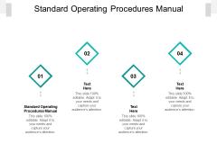 Standard Operating Procedures Manual Ppt PowerPoint Presentation Summary Design Inspiration Cpb Pdf