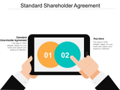 Standard Shareholder Agreement Ppt PowerPoint Presentation Pictures Graphics Example