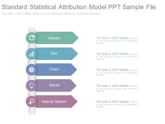 Standard Statistical Attribution Model Ppt Sample File