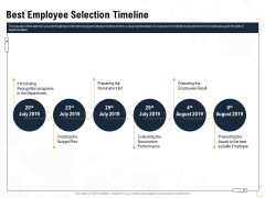 Star Employee Best Employee Selection Timeline Ppt Model Infographics PDF